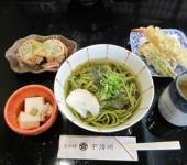 京都らしい、茶そば♪